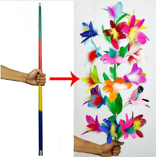 Mazzo Di Fiori Magico.Bastone Multicolor In Fiori Solo Per Maghi